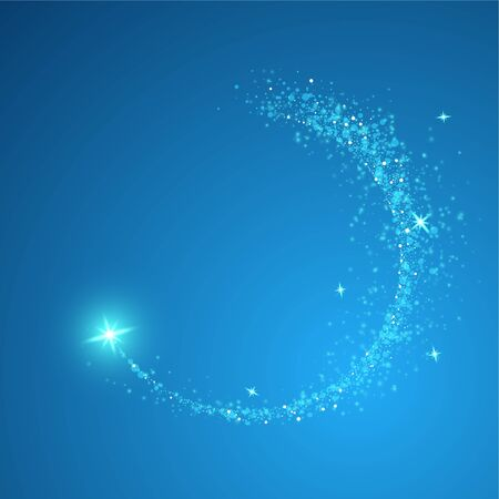 Shining swirl light. Glowing magical wave of glitter star. Graphic concept for your design.