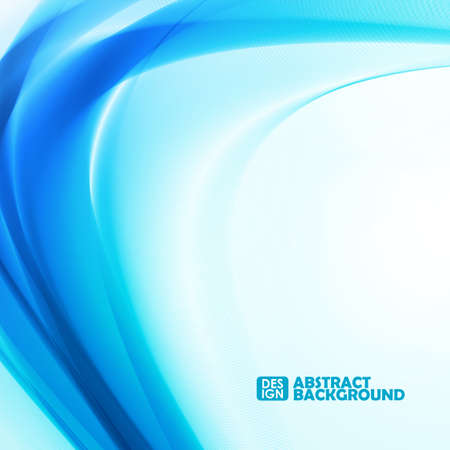 Abstract blue background, futuristic wavy dynamic illustration. Graphic concept for your design.