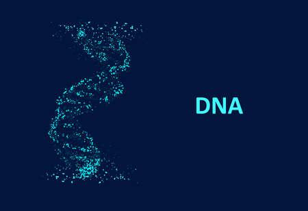 Big genomic data visualization. DNA test, genom map. Graphic concept for your design