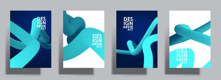 Liquid color shapes. Abstract blue curve line. Graphic concept for your design