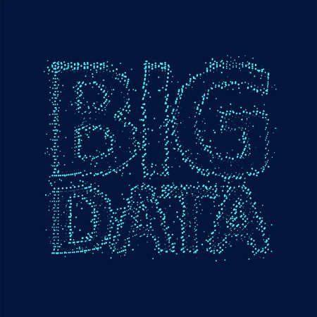 Big data code representation. Glittering dust of lights. Graphic concept for your design