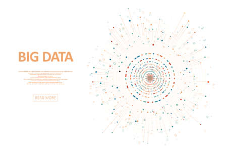 Abstract big data visualization. Big data code representation. Futuristic network or business analytics. Graphic concept for your design