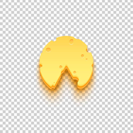 Piece of cheese icon. Illustration isolated on transparent background. Graphic concept for your design