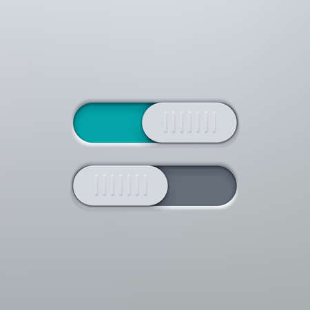 Realistic icon On and Off Toggle switch button. Graphic concept for your design Stok Fotoğraf