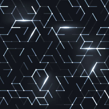 Abstract polygonal space. Background with connecting dots and lines. Graphic concept for your design Stok Fotoğraf