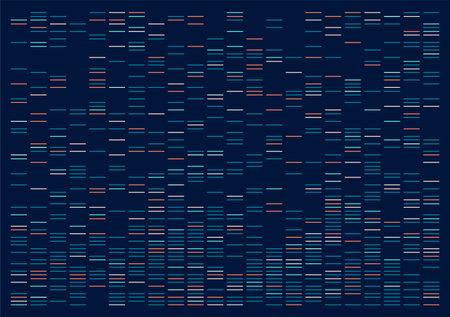 Big genomic data visualization. DNA test, genom map. Graphic concept for your design Çizim
