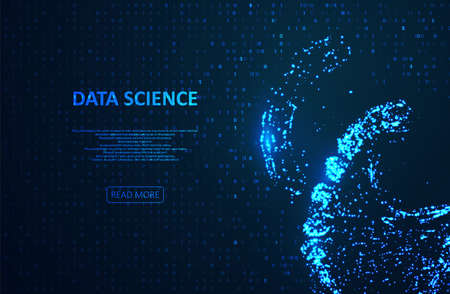 Big genomic data visualization. DNA test, genom map. Abstract binary code visualization. Big data code representation. Stream of encoded data. Graphic concept for your design