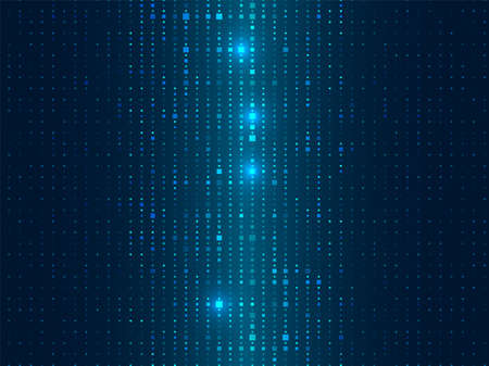 Abstract cyber space environment background. Digital particles grid virtual reality. Graphic concept for your design Vector Illustration