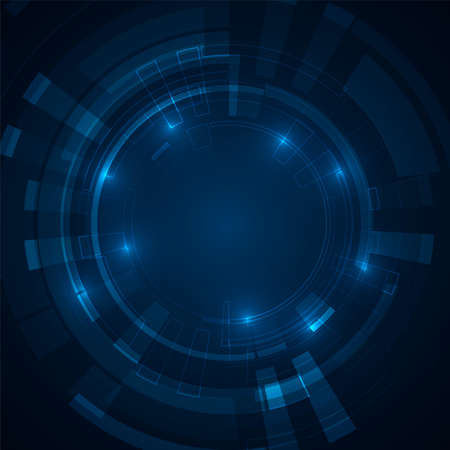 Abstract futuristic circles. Science technology machine. Graphic concept for your design