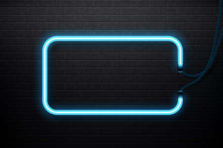 Neon banner. Graphic concept for your design