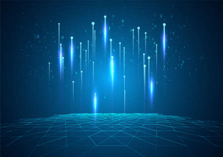 Abstract technology background. Digital computer code. Data transfer concepts in internet. Graphic concept for your design.