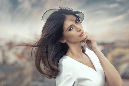 Fine portrait of the attractive smart lady