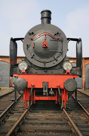 Picture of the black antique locomitve photo