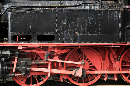 Picture of the black-red od locomotive photo