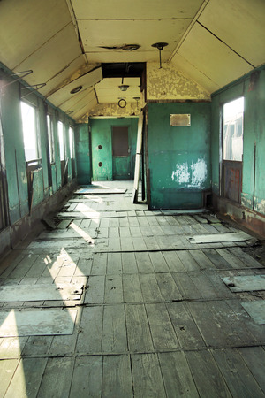 Old crashed room in the antique building photo