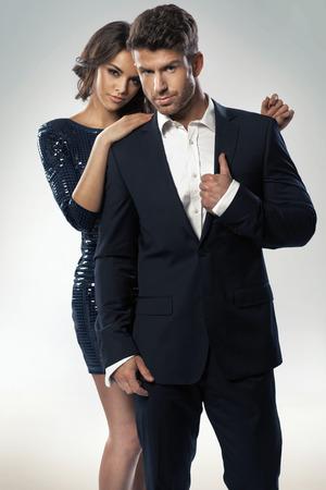Portrait of the young elegant couple Standard-Bild