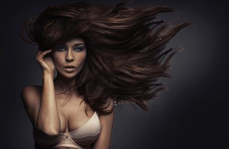 Amazing portrait of the sensual lady with sexy body Standard-Bild