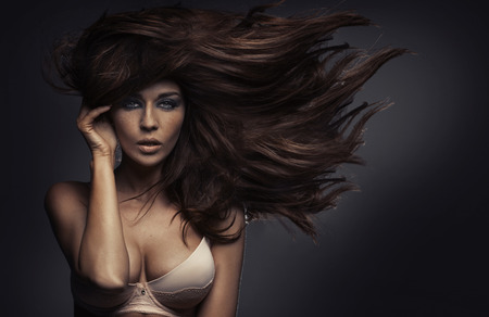 Amazing portrait of the sensual lady with sexy body Stockfoto