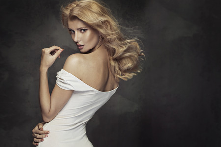 Portrait of the sensual blond lady Stockfoto