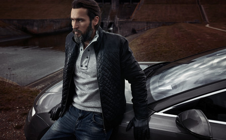 Portrait of a mature handsome guy Standard-Bild