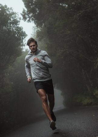 Portrait of a handsome, young jogger Foto de archivo