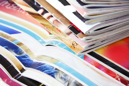 stack of colorful magazines Stock Photo - 4585753