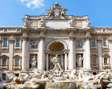 Fontana di Trevi in Rome, Italy. photo