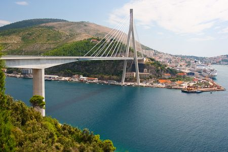 Frank Tudmans Bridge.Dubrovnic,Croatia photo