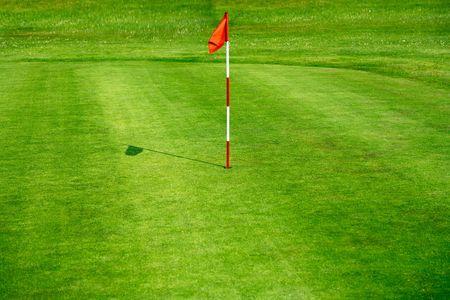 golf drapeau: Club de golf  Banque d'images