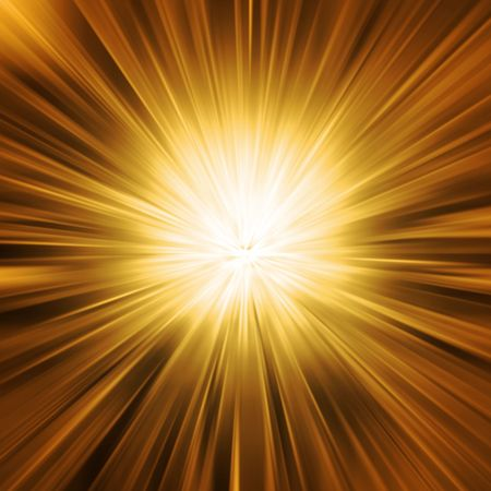 Gold rays of light photo