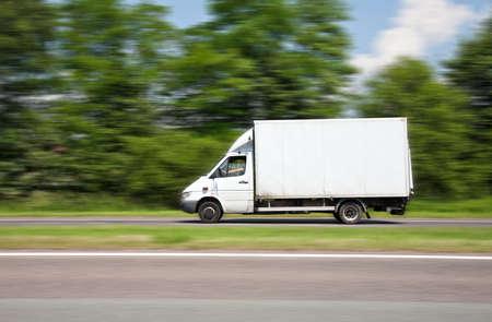 Driving van speed photo