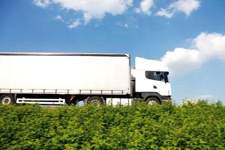 Big white truck photo