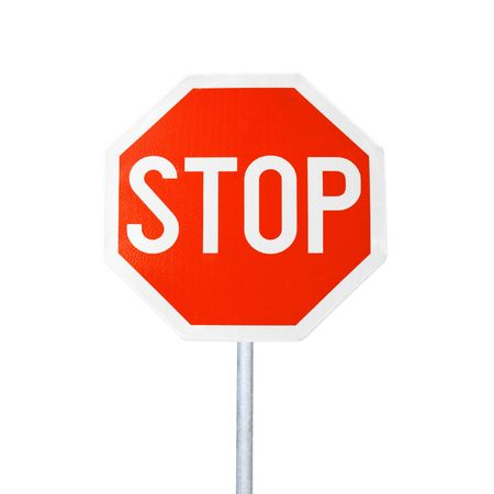 Stop Sign Isolated Stock Photo - 8067260