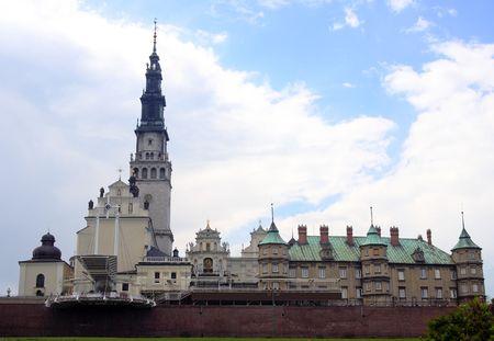 El santuario de Jasna Gora en Czestochowa (Polonia)  Foto de archivo