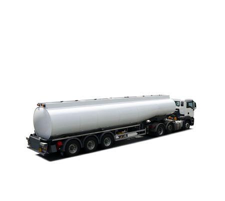 Camion cisterna di carburante isolato Archivio Fotografico