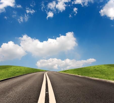 horison: Summer road Stock Photo