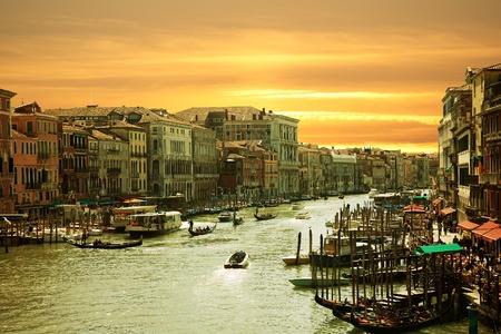 Tramonto sul canal grande Venezia