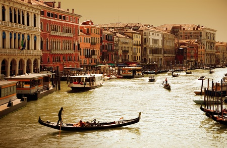 Venice -Grand Canal at sunset photo