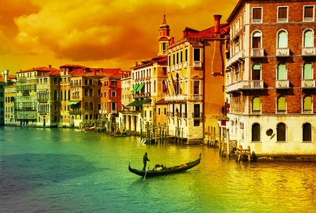 Amazing Venice  - artistic toned picture Stock Photo