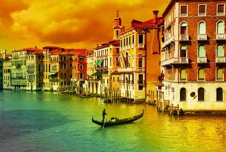 Amazing Venice  - artistic toned picture Stock fotó