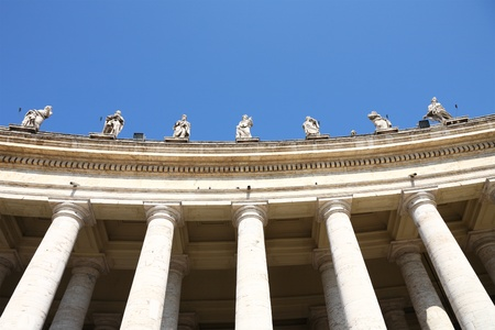 Famous colonnade of St. Peters Basilica,Rome