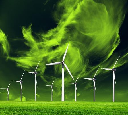 eficiencia: Ecología del mundo, imagen conceptual