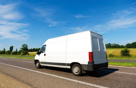 fast delivery: Van on the Move