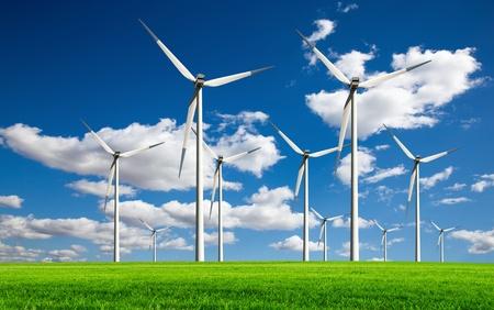 turbina: Ecolog�a - viento de cambio Foto de archivo
