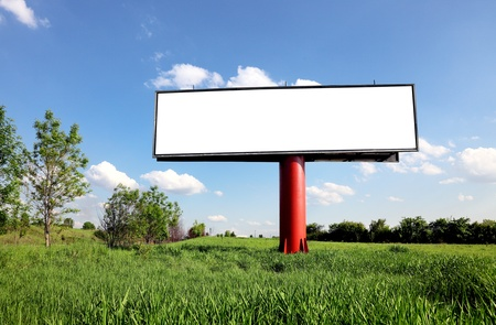 empty billboard for your ad photo