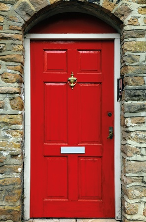 front door: red english door