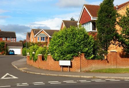 Case di città in un inglese Street