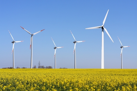 Wind Turbine - alternative and green energy source photo