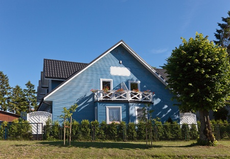 New modern blue house photo