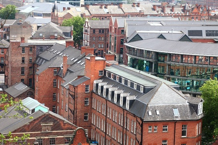 redbrick: Redbrick architecture of Nottingham, uk Stock Photo